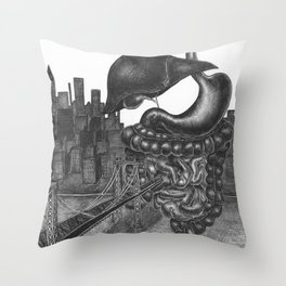 Fear plays an interesting role in our lives Throw Pillow