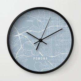 Pomona Map, USA - Slate Wall Clock