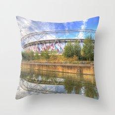 West Ham Olympic Stadium London Throw Pillow
