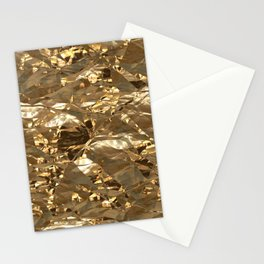 Gold Metal Stationery Cards
