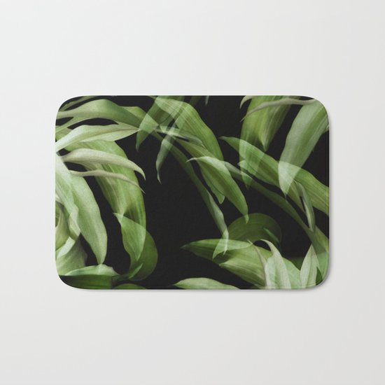Tropical leaves. Pattern. Bath Mat