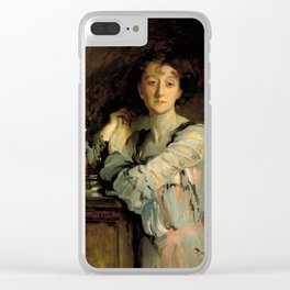 """John Singer Sargent """"Mrs. Charles Russel"""" Clear iPhone Case"""