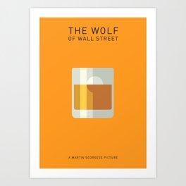 The Wolf Of Wall Street Minimalist Poster - Pong Art Print