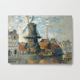 Claude Monet - The Windmill, Amsterdam Metal Print