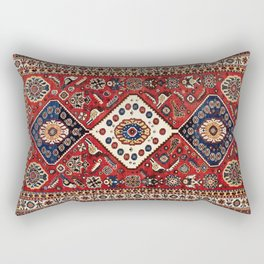 Qashqa'i  Antique Fars Persian Tribal Rug Rectangular Pillow