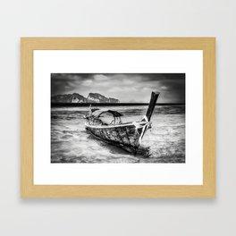 Longboat Thailand Framed Art Print
