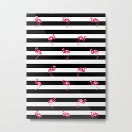 Pink Flamingo, summer pattern Metal Print