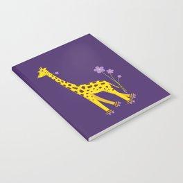 Funny Giraffe Roller Skating Notebook