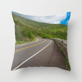 Whiteface Mountain Road Throw Pillow