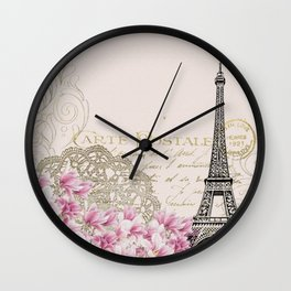 Ooh La La Parisian Eiffel Tower Home Decor Wall Clock