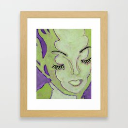 Mug Shot Green/Lares and Penates Series Framed Art Print