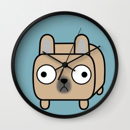 French Bulldog Loaf - Fawn Frenchie Wall Clock