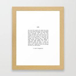Life quote F. Scott Fitzgerald Gerahmter Kunstdruck