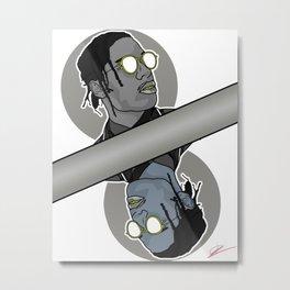 ASAP Rocky Vector Fan Art Metal Print