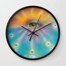 Moon Cycle Healing Wall Clock