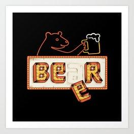 Bear or Beer Art Print