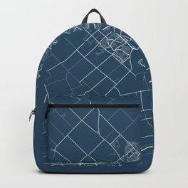 Guelph Blueprint Street Map, Guelph Colour Map Prints Backpack