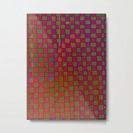 Manual Grid Fall Digital Metal Print