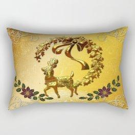 Christmas, reindeer Rectangular Pillow