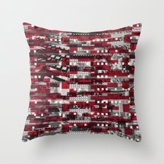 Nothing Is Accomplished (P/D3 Glitch Collage Studies) Throw Pillow