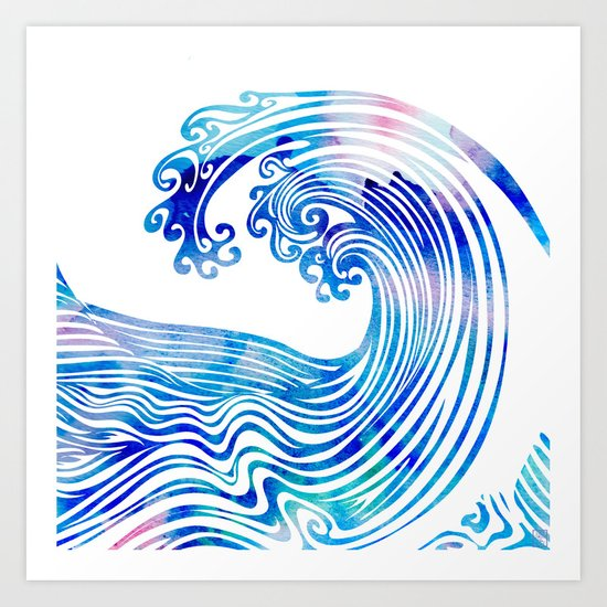 Waveland Art Print