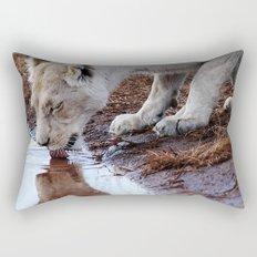 Not just a puddle but survival Rectangular Pillow