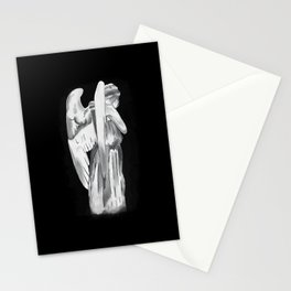 Weeping angel - Doctor Who - black Stationery Cards
