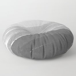 Brushstroke - Ombre Grey, Charcoal, minimal, Monochrome, black and white, trendy,  painterly art  Floor Pillow