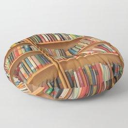 Bookshelf Books Library Bookworm Reading Floor Pillow