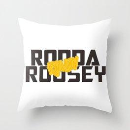 Ronda Rousey Rowdy Throw Pillow