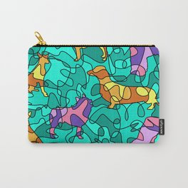 Magical Mosaics Dogs Carry-All Pouch