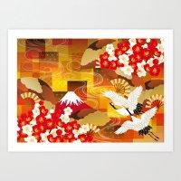 kimono Art Print