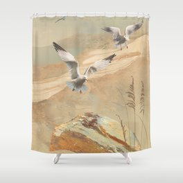 Gulf Coast Gulls Shower Curtain