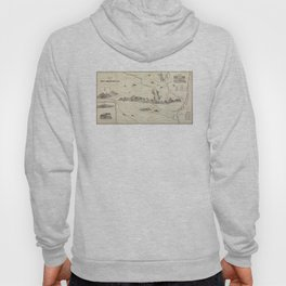 Vintage Map of The White Mountains (1852) Hoody