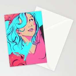 Don't Point That Gun At Her Stationery Cards