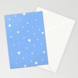 Scattered Stars on Sky Blue Stationery Cards