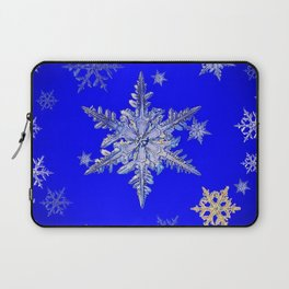 """MORE BLUE SNOW"" BLUE WINTER ART DESIGN Laptop Sleeve"