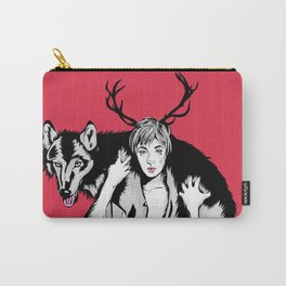Wolf and Girl Carry-All Pouch