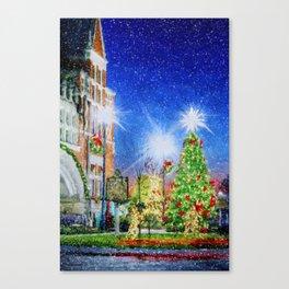 Home Town Christmas Canvas Print