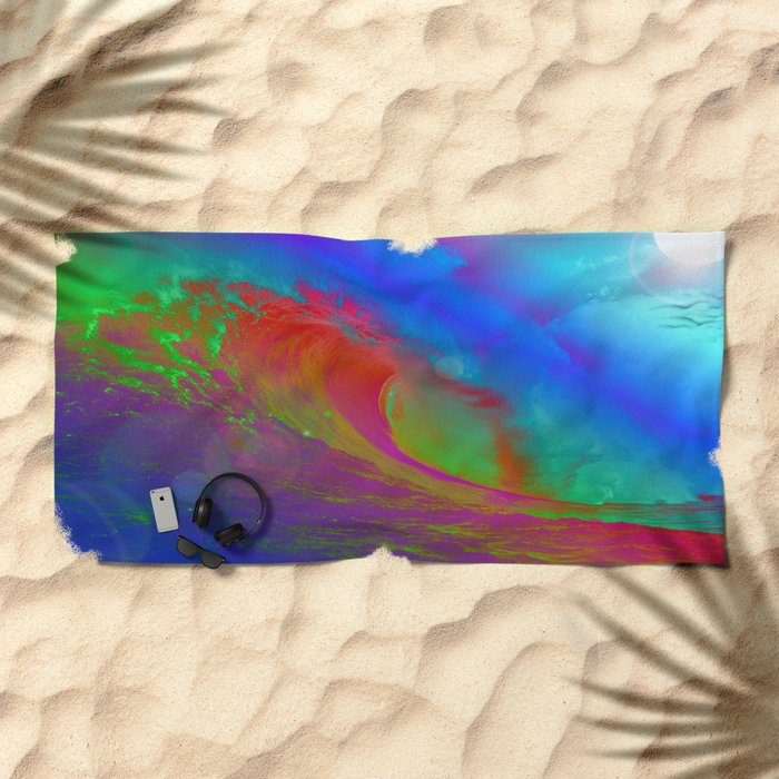 Big Wave Beach Towel