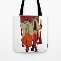 x men Tote Bags featuring THE x-MEN by chazstity