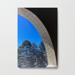 Arch View Metal Print