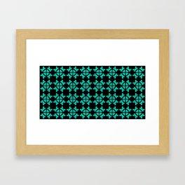 Traditional Romanian folk art knitted embroidery pattern Framed Art Print
