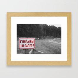 DON'T SHOOT Framed Art Print