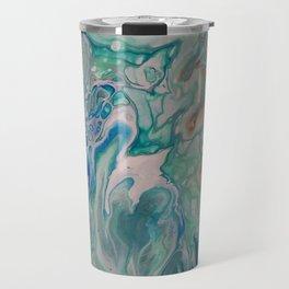 Tie the Knot Unique Fluid Acrylic Print Travel Mug