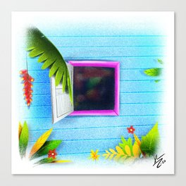 La ventana de la abuela Canvas Print