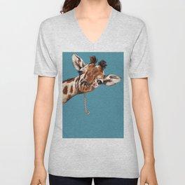 Sneaky Giraffe Unisex V-Neck