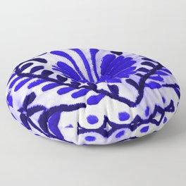 Beautiful Midnight Blue Mexican Flower Floor Pillow