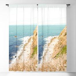 Travel photography Palos Verdes Ocean Cliffs Seascape Landscape III Blackout Curtain