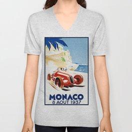 Monaco 1937 Grand Prix Unisex V-Neck
